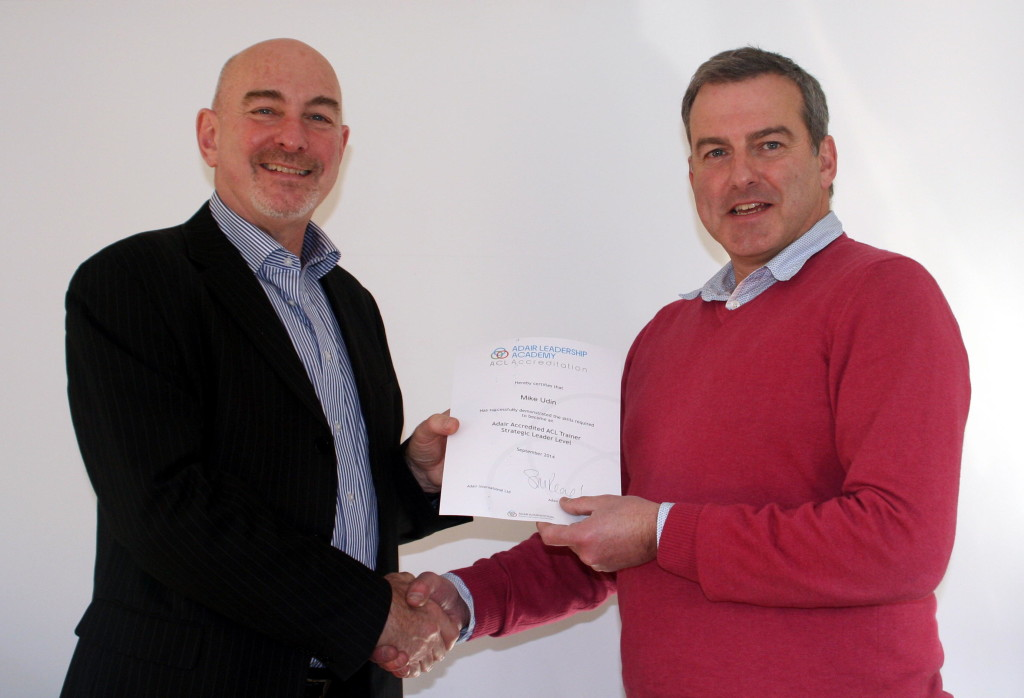 Mike Udin Awarded Adair Strategic Accreditation